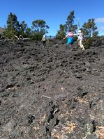 Volcano National Park. This is lava from eruptions. Very sharp and hard to walk on.