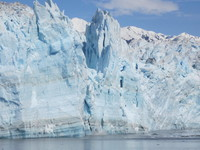 "Hubbard Glacier. We saw lots of ""calving."" It was a lovely day to s"