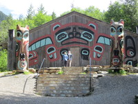 One of the meeting halls for the Tlingit Indians of Ketchikan
