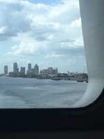 One is from our cabin leaving Tampa port.