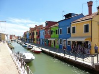 Beautiful Burano; one of the Venetian islands.