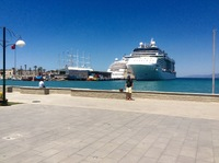 Berthed next to Silver sea in Turkey