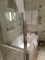 Tub & Shower, window suite F307
