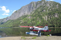 Island Wings floatplane in Punchbowl Cove, Misty Fjords, Ketchikan