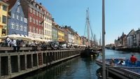Copenhagan. Take a pleasure boat 'hop on off' to view the city