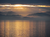 Morning has broken over the inside passage