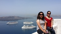 At beautiful Santorini.