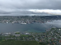 View of Tromso from the cable car.