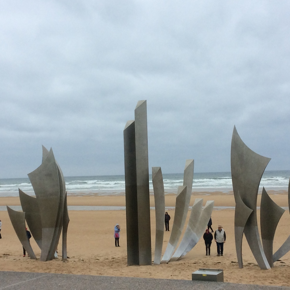 The landing beach for D Day