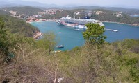 View of the ship in Huatulco