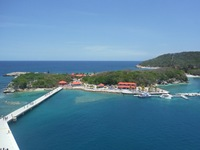 Picture of Labadee from the whirlpool in the Solarium