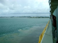 View out of room balcony, as we are leaving San Juan.