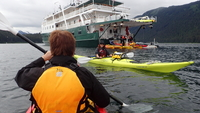 Off the boat in Glacier Bay - kayaking was wondefull