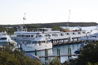 The Grande Mariner docked in Compass Cay marina.