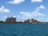 This is Atlantis Resort - taxis are available to take to the resort if you