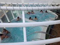 This is one of the hot tubs on board. Children are not allowed in this part