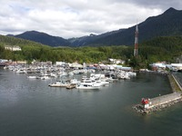 In port at Juneau