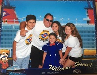 On our way to embark the Disney Dream we stopped for a quick photo op.