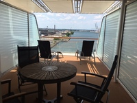 Aft Cabin Balcony - Spacious with good mix of sun and shade