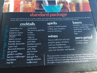 Beverage Package - Standard