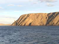 North Cape (Northern-most point of Europe) seen from the Prinsendam