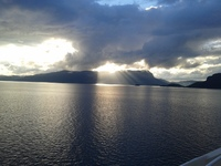 Our last sunset in the Norwegian fjords - a beautiful 3 weeks in Norway.