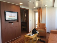 The Captains suite on the carnival Conquest room 9202