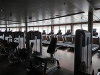 Fitness Room (at front of ship with a great view)