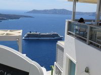 a view of the Ship from Santorini