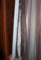 torn dirty drapes
