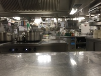 Kitchen in ship