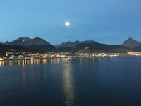 Ushuaia under a full moon.