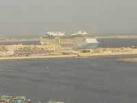 1st view of Ship from our hotel.