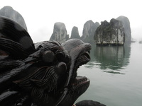 Halong Bay.  Nice cruise, but passengers were a little short changed as we