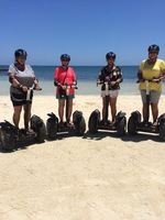 We were in Belize riding Segways on the Beach!