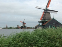Windmills at Zaanse Schans near Amsterdam