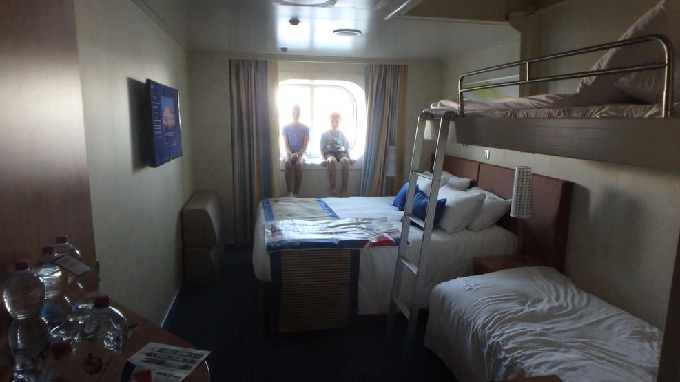Double bed for us, bunk beds for the kids