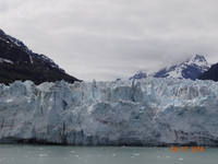 This is a picture of Glacier Bay from our balcony.