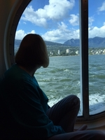 Our view out of the Oceanview stateroom window... just wonderful at all times