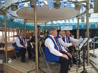 Local German band came onboard while we were in German port.