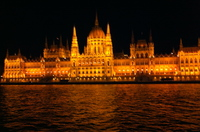 We toasted our arrival in Budapest at the bridge sail-in. Hungarian Parliament