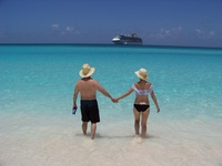 Daughter and new son-in-law at Half Moon Cay
