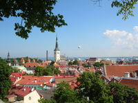 Beautiful downtown Tallinn--Old Town has had a lot of work done and is well