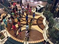 Salsa classes in the Atrium...