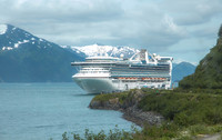 Star Princess Waiting in Whittier AK
