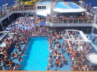 Pool area- Too crowded to ever use it.