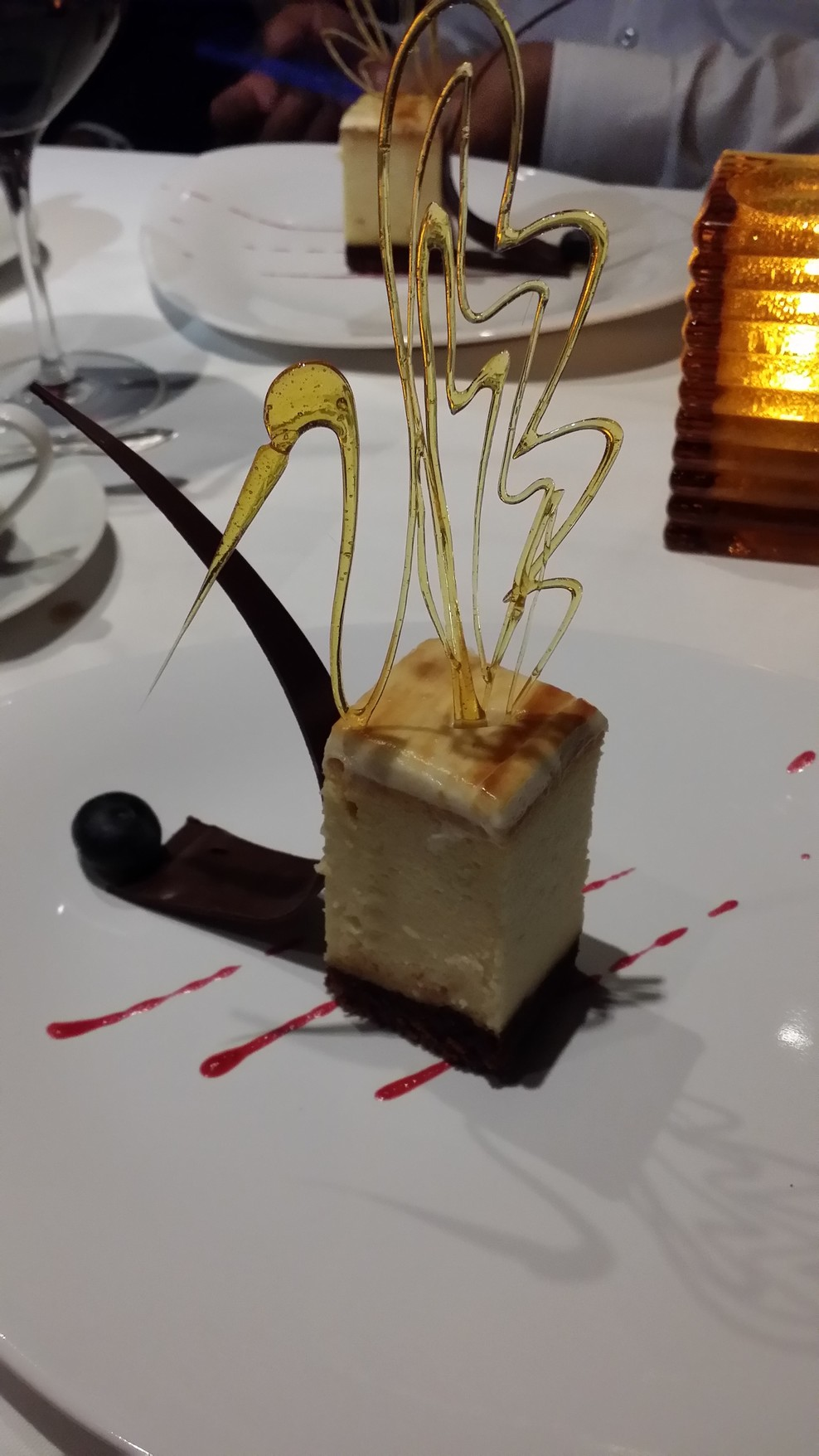 Special desert at Scarlett's Steakhouse on Valor