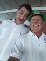 Me and Capt Alex taking a selfie. Nicest Guy ya want to meet.