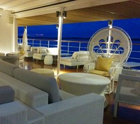 Sun Deck lit up in the evening