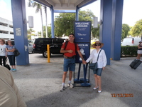 We were waiting to go inside the ship in Miami